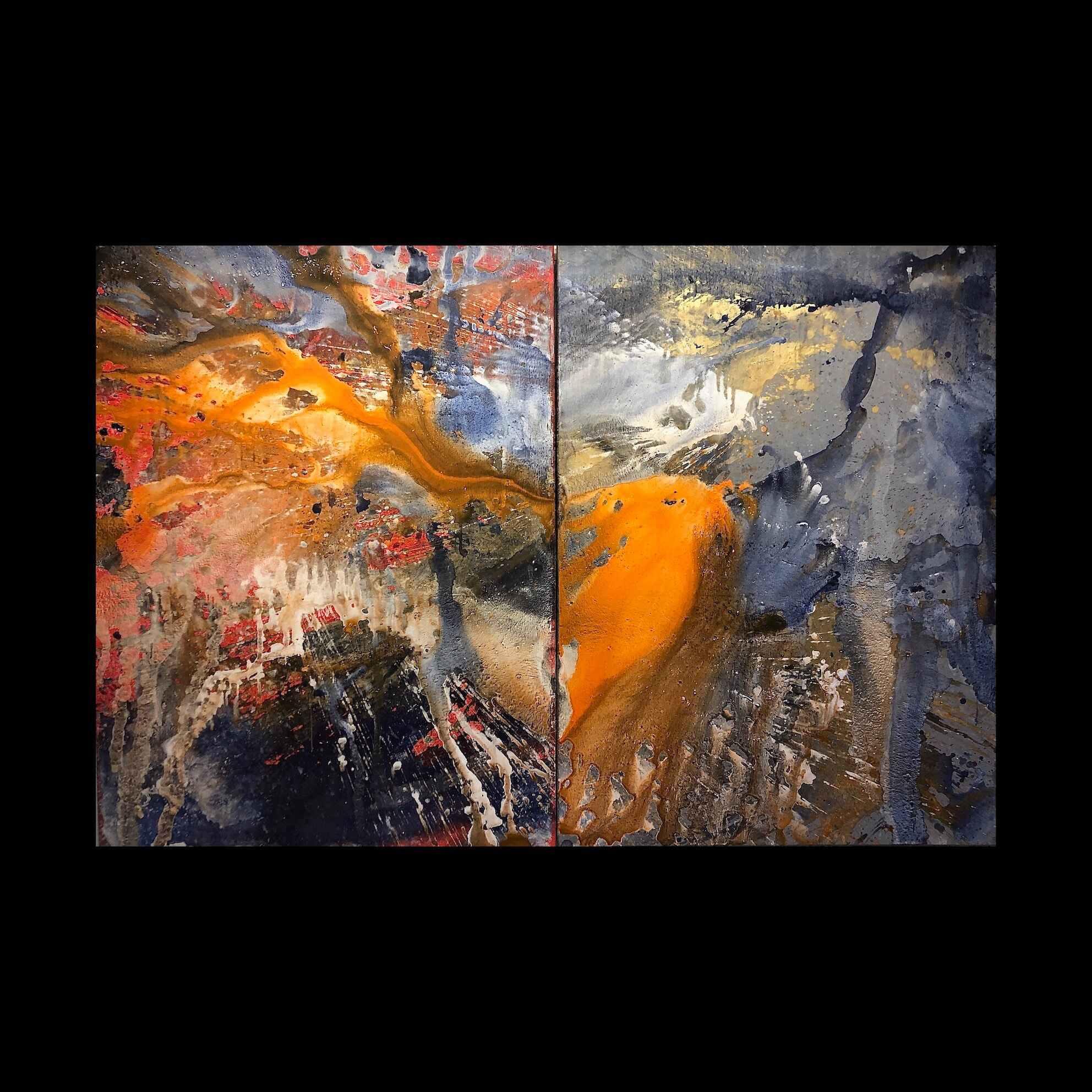 Gorllewin Gwyllt (40 x 54 inches (x 2 diptych) acrylic on mdf 2020)