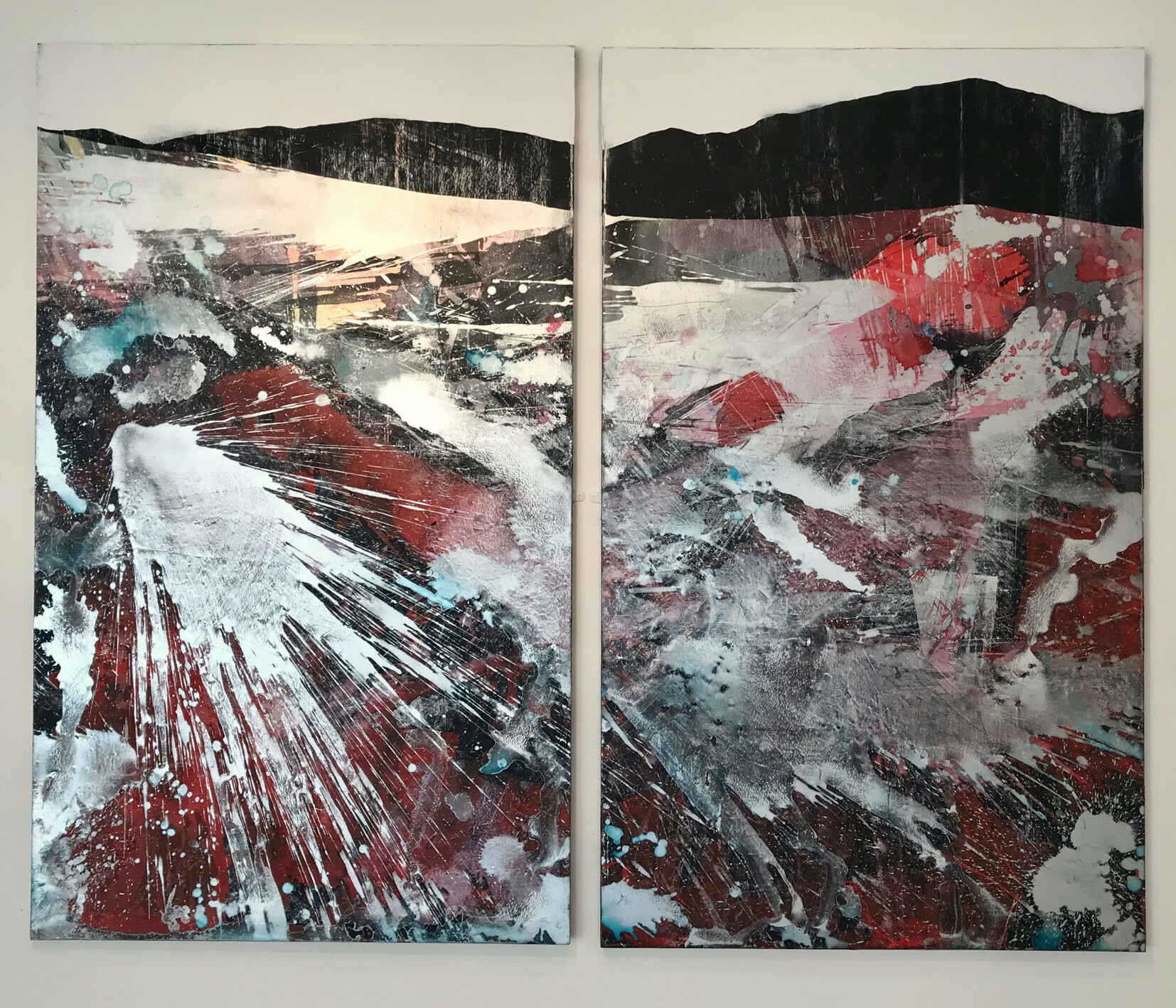 Dirfawr (5ft x 3ft x 2 acrylic on mdf 2018)